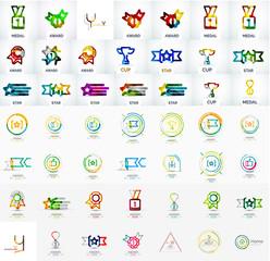 Award vector mega icon set