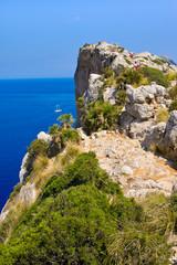Tourists on Cap Formentor, Mallorca, Balearic island, Spain
