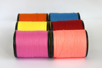 A group of thread in spool