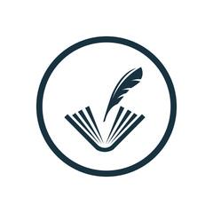 book write icon, round shape