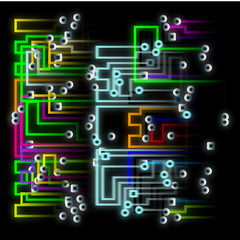 Circuit, Abstract Background Illustration