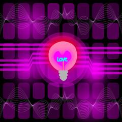 light bulb, love technology illustration