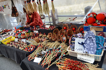 Farmer's market selling handicrafts (Takayama, Gifu, Japan)