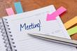 Terminkalender mit Hinweissticker - Meeting - 78740907