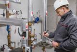 Engineer in boiler room