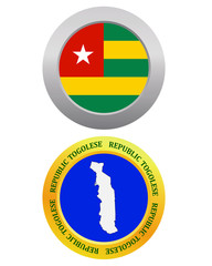 button as a symbol map of the Togolese Republic