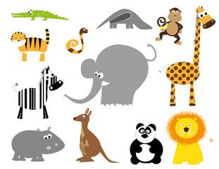 set of wild animals- vectors for children