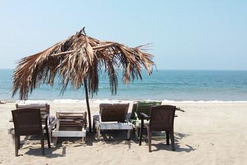 Goa sunny ocean beach