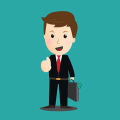 Vector of Businessman thumb up sign