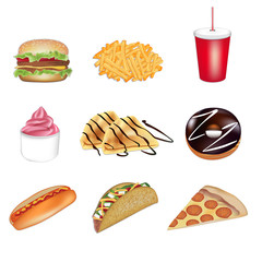 Fast food vector illustrations