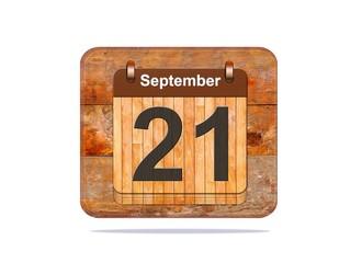 September 21.