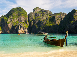 Traditional Thai boat for tourists.