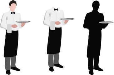 sagome di cameriere