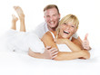canvas print picture - Happy couple at home