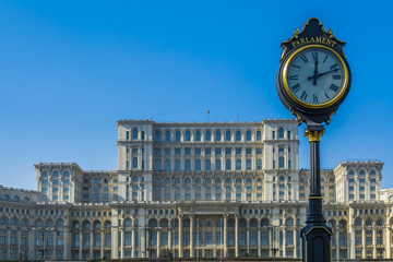 Parliament building in Bucharest also called Casa Poporului