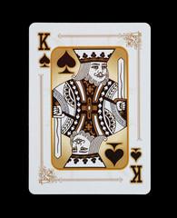 Spielkarten - Poker - Kreuz König im Spiel