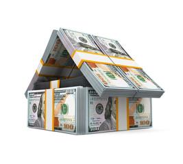 US Dollar Bills Pack Money House