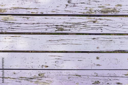 canvas print picture Holztisch, lackiert, Farbe, abgeblättert, lila