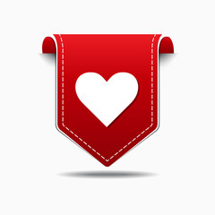 Heart Red Vector Icon Design