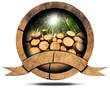 Zdjęcia na płótnie, fototapety, obrazy : Lumber Industry - Wooden Icon