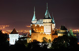 Bojnice castle, Slovakia at night.