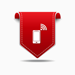 Smart Phone Red Vector Icon Design