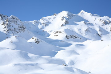 Winter sun day landscape