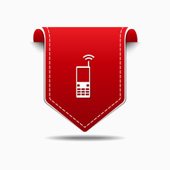 Phone Red Vector Icon Design