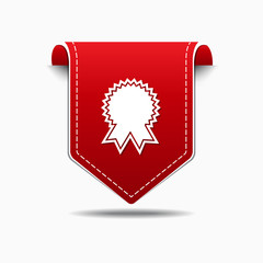 Medal Red Vector Icon Design