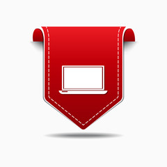 Laptop Red Vector Icon Design