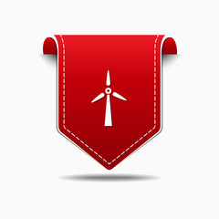 Windmil Red Vector Icon Design