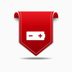 Battery Red Vector Icon Design