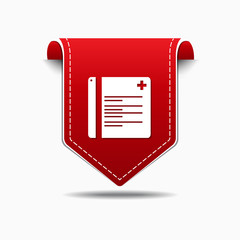 File Red Vector Icon Design