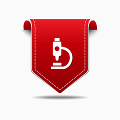 MIcroscope Red Vector Icon Design