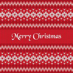 Merry Christmas Greeting Card on Winter Geometric Ornament