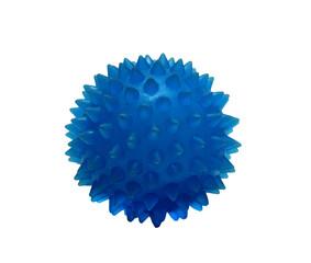 rubber balls massage blue on a white background