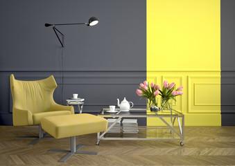 arm chair. 3d rendering
