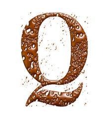 Chocolate alphabet Q