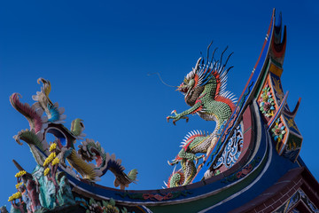 dragon on the roof of temple