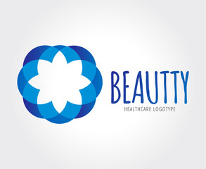 Abstract flower vector logo template for branding and design