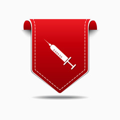 Injection Red Vector Icon Design