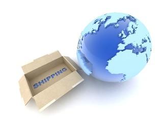 3D  shipping cardboard