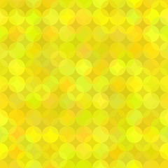Yellow Geometric Background from Rounds