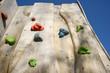 Leinwandbild Motiv Kletterwand aus Holz