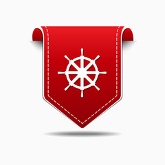 Wheel Red Vector Icon Design