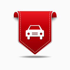 Car Red Vector Icon Design