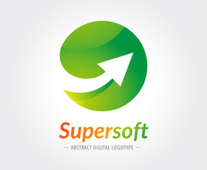 Abstract arrow vector logo template for branding and design