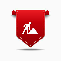 Under Construction Red Vector Icon Design