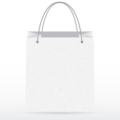 Front view of empty vector shopping bag