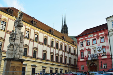 View of the ancient city Brno